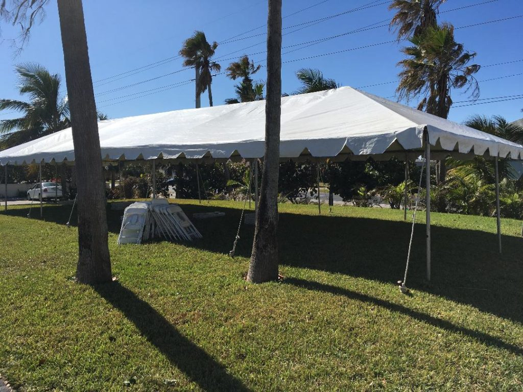 Cocoa Beach Villas Wedding Tent