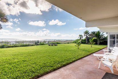 Cocoa Beach Villas Unit #1 patio and view