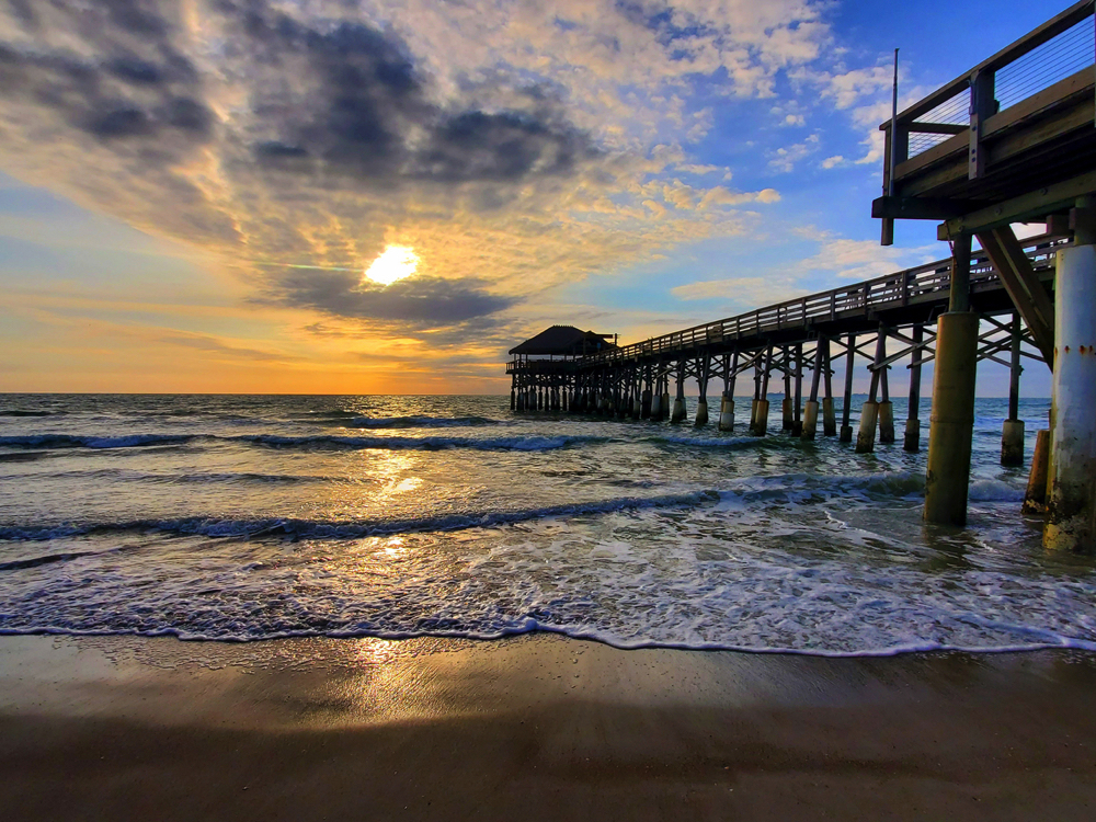 Picture of Sunrise at Cocoa Beach Pier @sandyrootsphotography